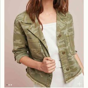 NWT Anthropologie Sanctuary Cropped Camo Jacket!